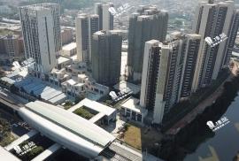 南沙水戀|香港高鐵1小時直達|市區鐵路上蓋 (實景航拍)